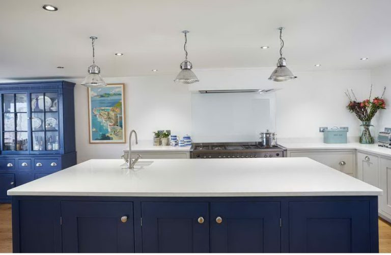 Large kitchen island with sink