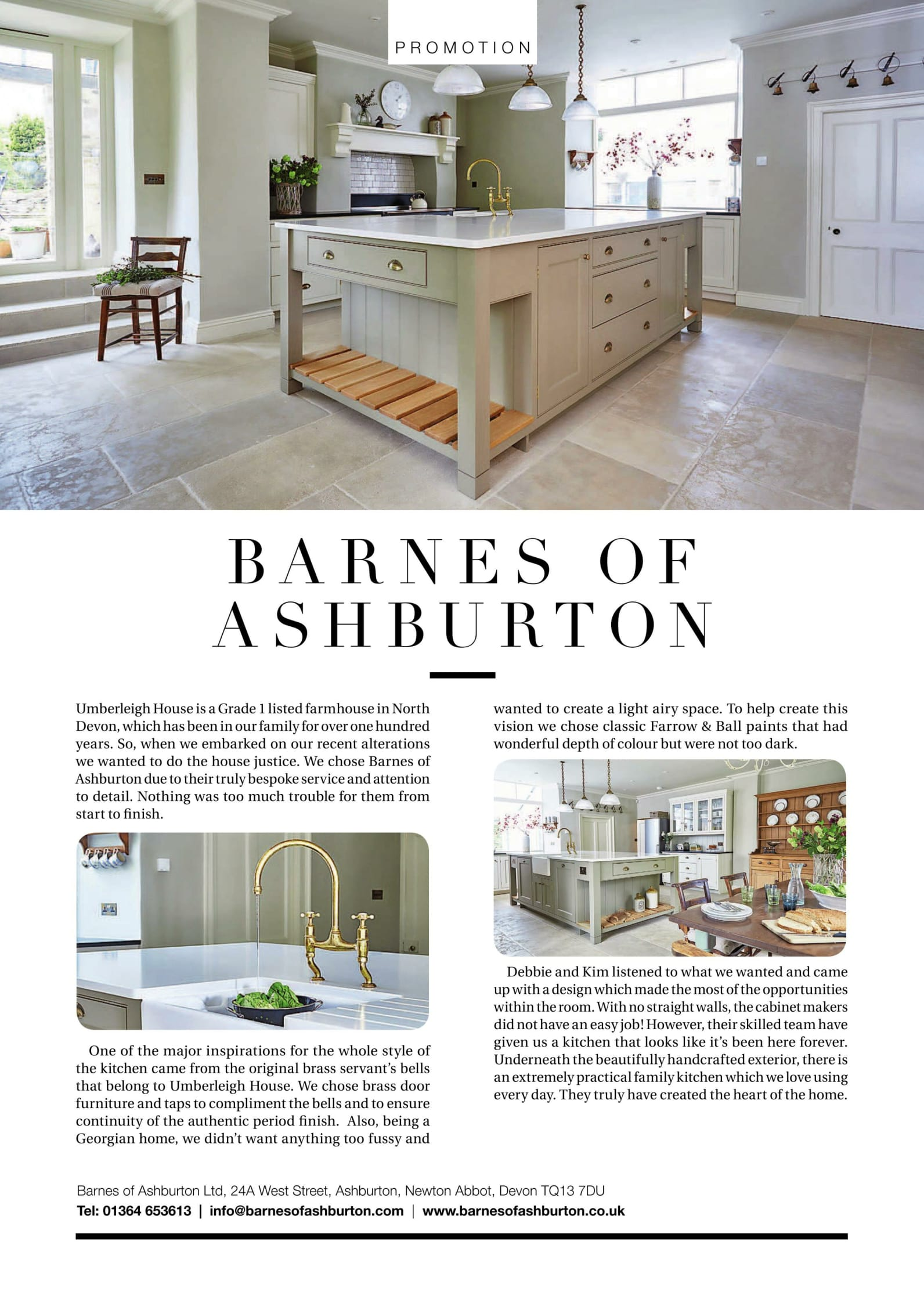 Barnes of Ashburton kitchens in Devon Life