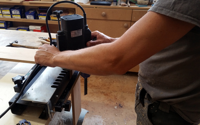 Modern power tools used alongside more traditional tools