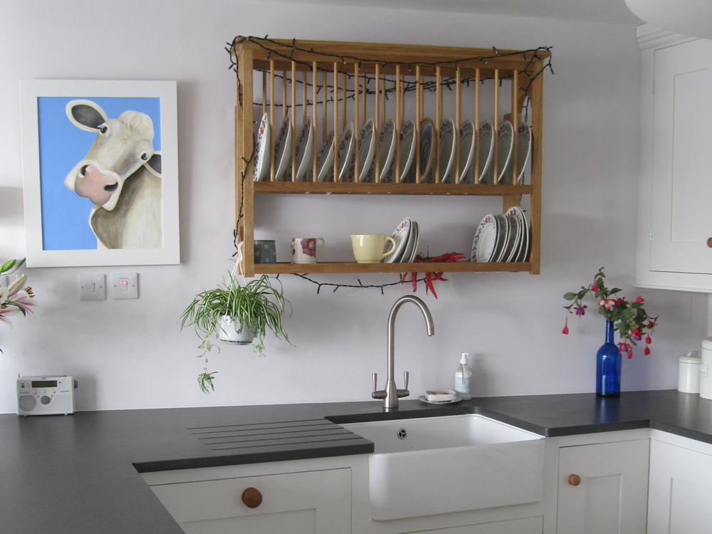 The classic Barnes plate rack looks great in any kitchen
