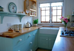 A beautiful compact cottage kitchen