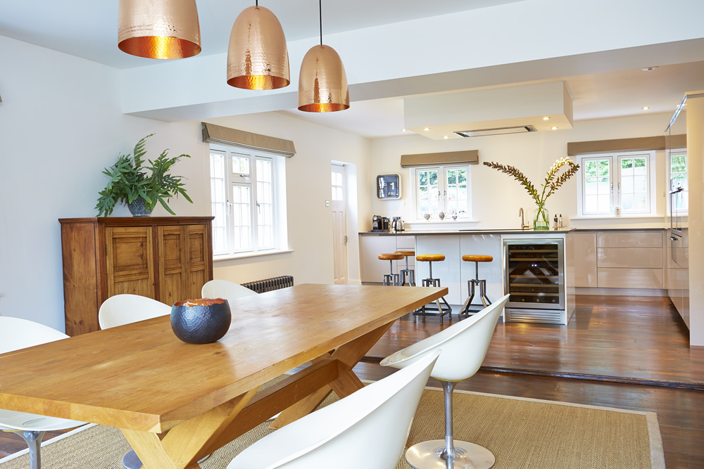 Modern kitchen design with ample seating