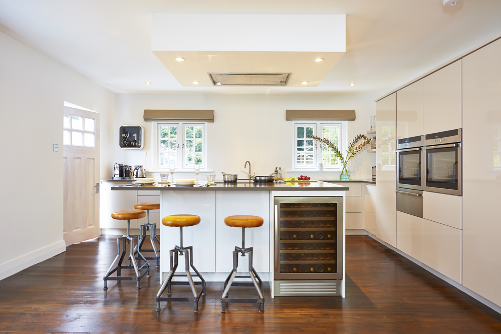 A bright light airy modern kitchen