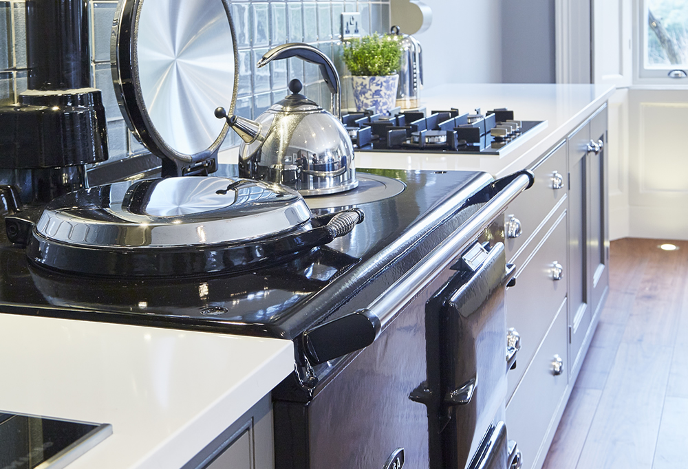 A classic kitchen with a traditional Aga