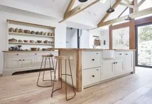 A barnes Kitchen with free standing furniture
