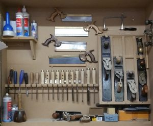 Tools used in making hand made kitchens