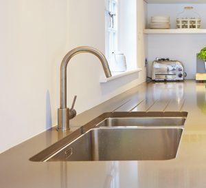 Composite quartz kitchen worktop