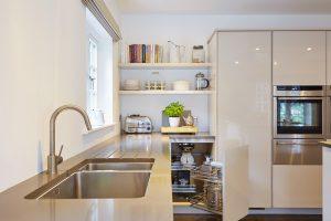 Composite quartz kitchen worktops