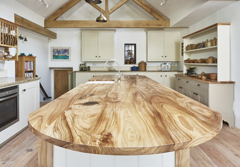 Hardwood worktops and kitchen islands