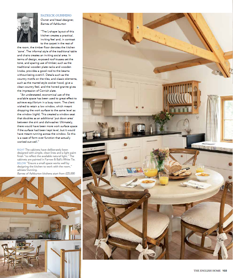 English Home magasine features a Barnes kitchen
