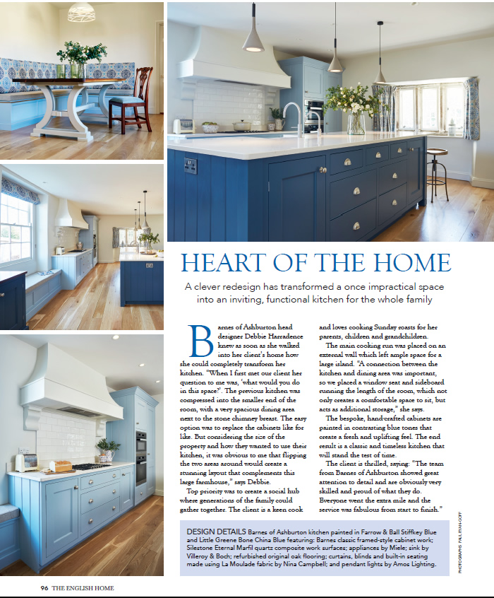Our True Blue kitchen in English Home
