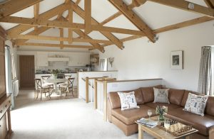 Barnes bespoke kitchen design in barn conversion