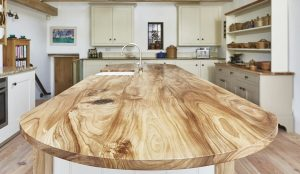 A walnut work top handmade by Barnes