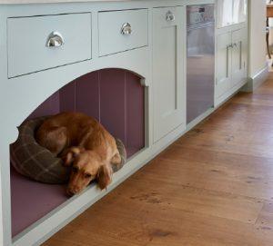 A handmade custom dogs bed