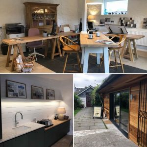 Handmade freestanding furniture made for the new office here at Barnes in Devon