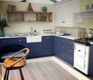 A handmade Barnes kitchen pictured at the Devon county show in 2019