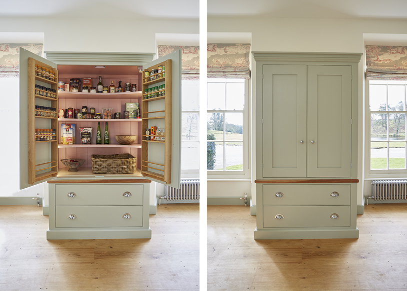 A free standing Barnes pantry