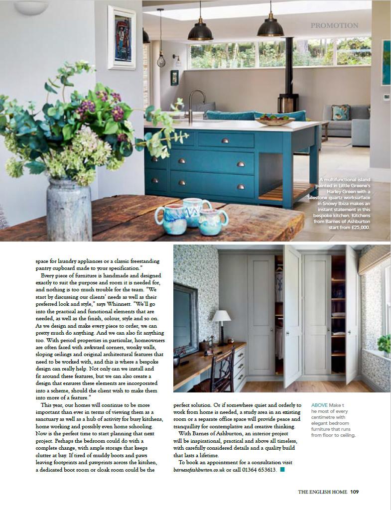 Barnes Of Ashburton English Homes Magazine Page Two