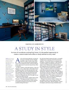 Hand made cabinetry in a home office built by barnes of Ashburton