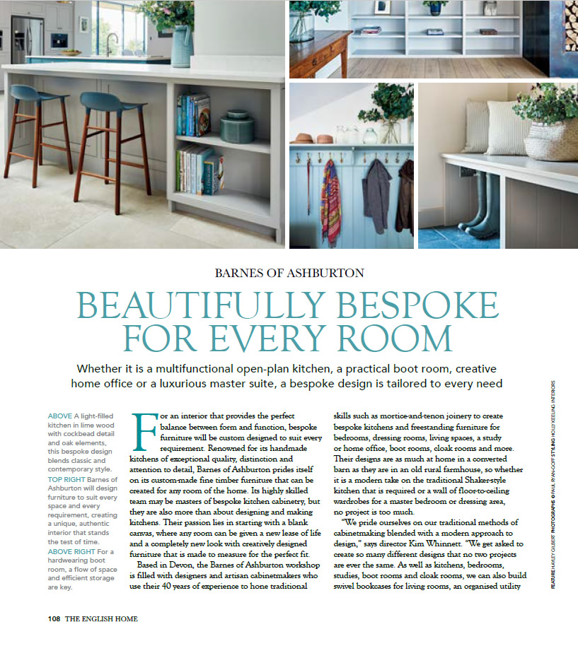English Home magasine March 2021 interior design by Barnes
