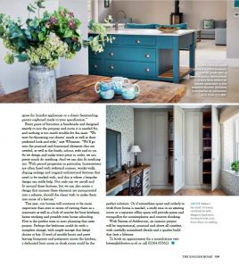Barnes of Ashburton in English Home magasine article on home design