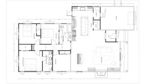 AutoCAD deisn showing the kitchen and rest of the home