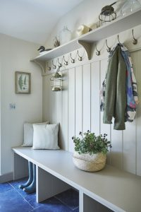 Boot room seating with under storage