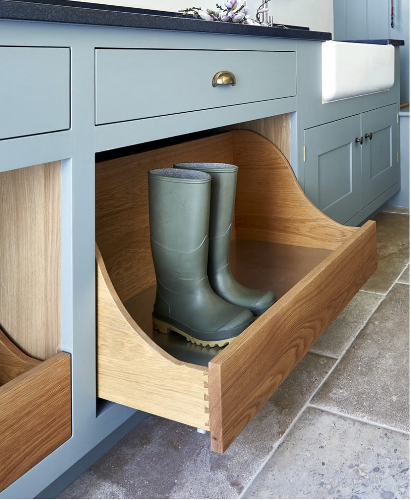 A clever bootroom drawer